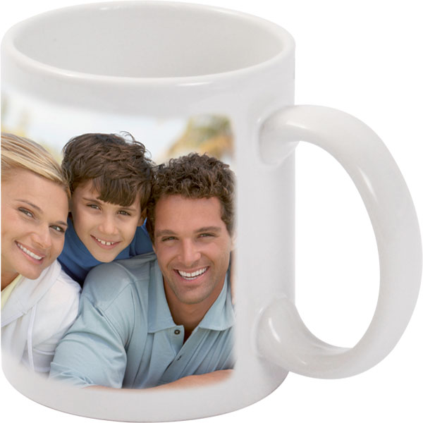 customized white mug example